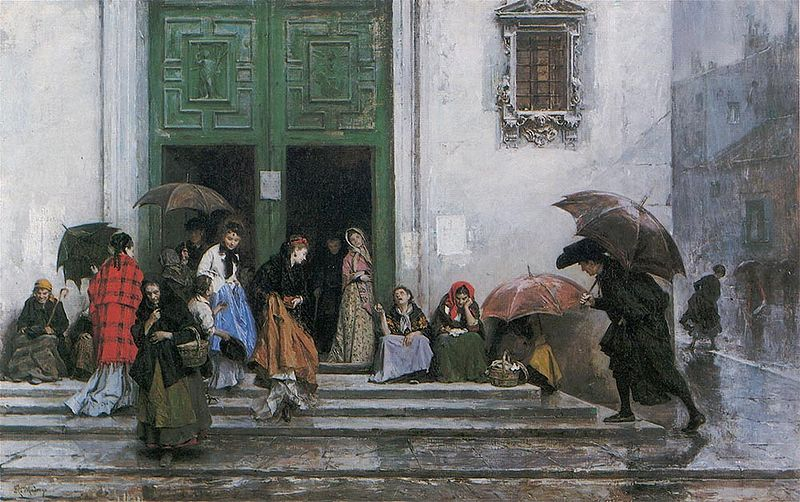 800px-Raimundo_Madrazo_-_Coming_out_of_Church