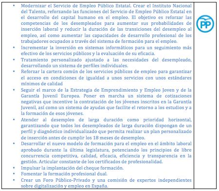 Análisis NeG de Programas Electorales: Empleo. (II) Políticas activas de empleo