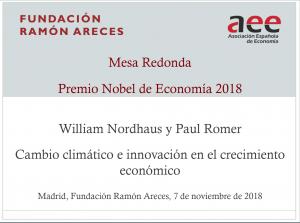 Mesa Redonda sobre el Premio Nobel de Economía 2018 (Vídeos)