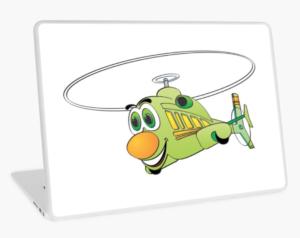 Un helicóptero verde a la vista