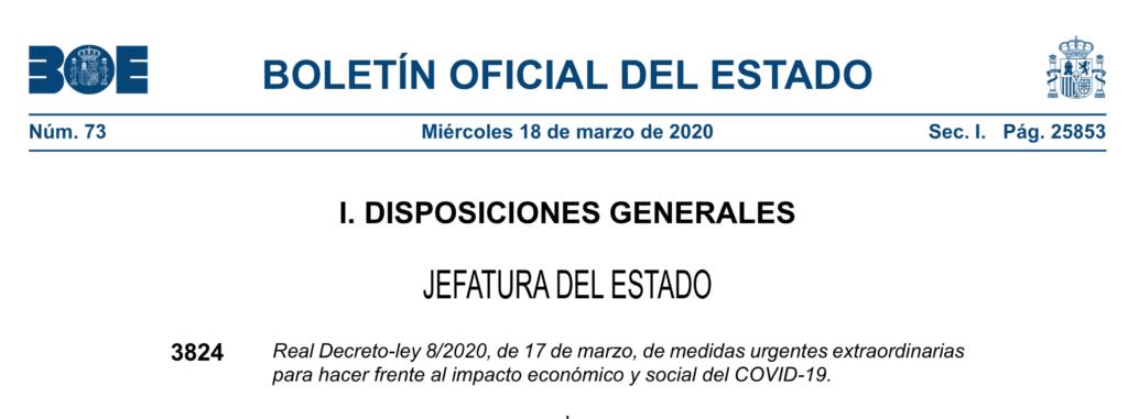 La crisis económica del Covid-19: ¿Serán eficaces las medidas del Gobierno español?