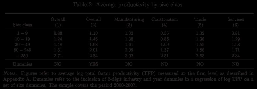 El problema de la baja productividad empresarial en España