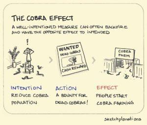 La economía es una ciencia de incentivos. Y los incentivos, incentivos son (el efecto cobra)