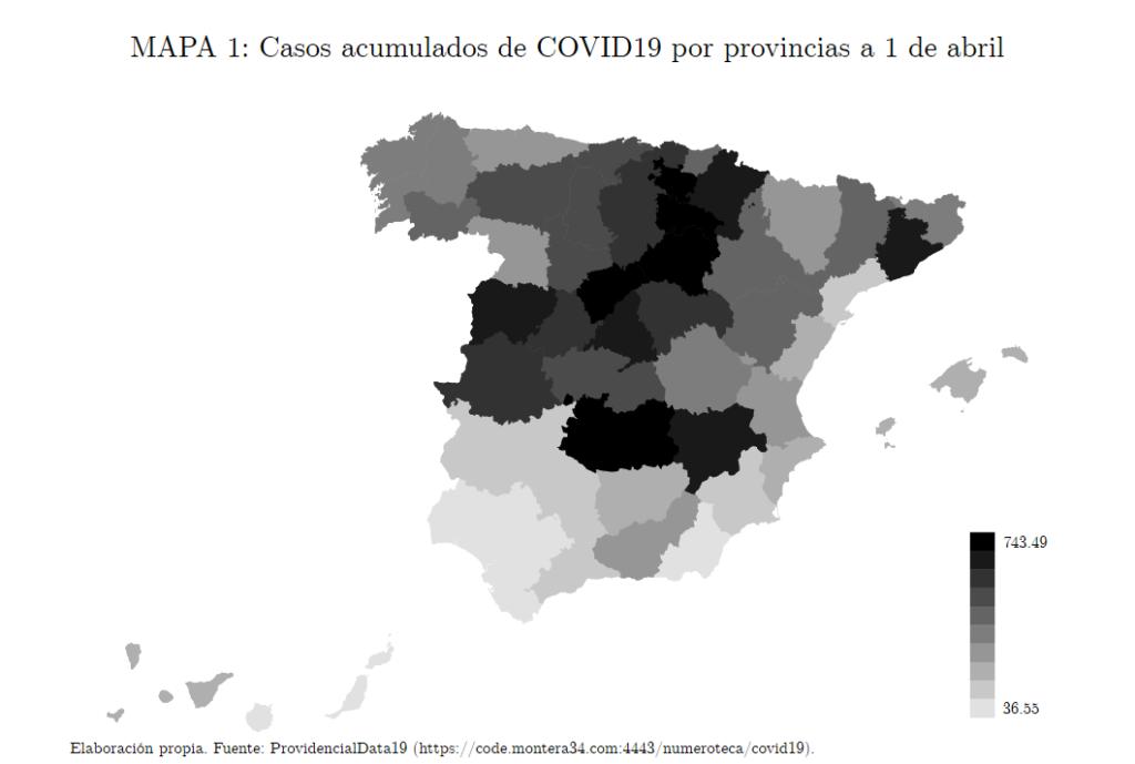 Correlaciones provinciales del COVID-19