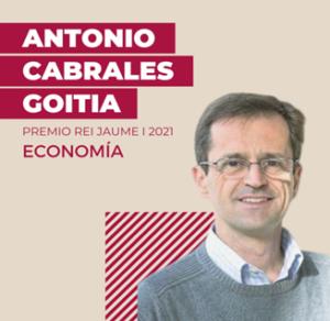 Antonio Cabrales, Premio Jaume I 2021