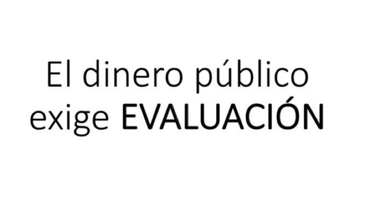 Evaluación dinero público