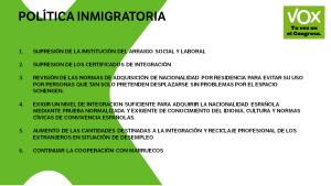 Vox y la Inmigración: una visión austriaca