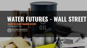 ¿Quién teme al mercado de futuros para el agua?